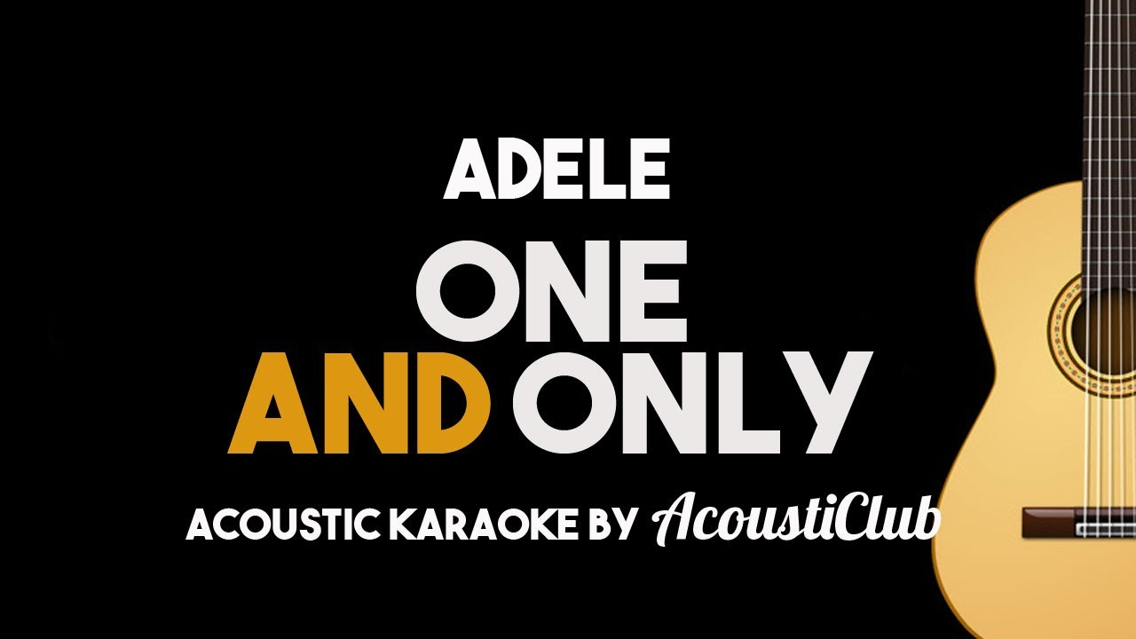 Adele one and only acoustic