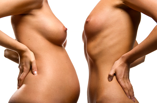 Nude pregnant before and after