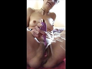 Horny mature pussy squirts after work