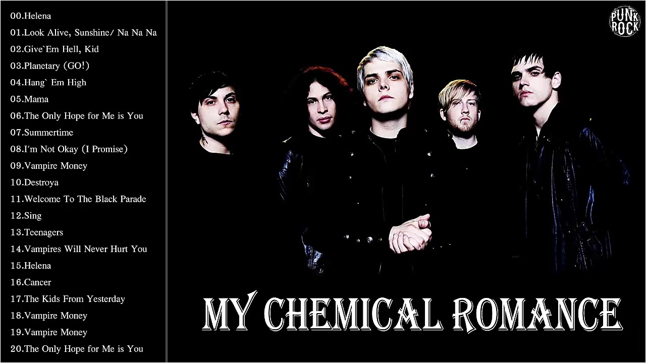 My chemical romance most popular songs
