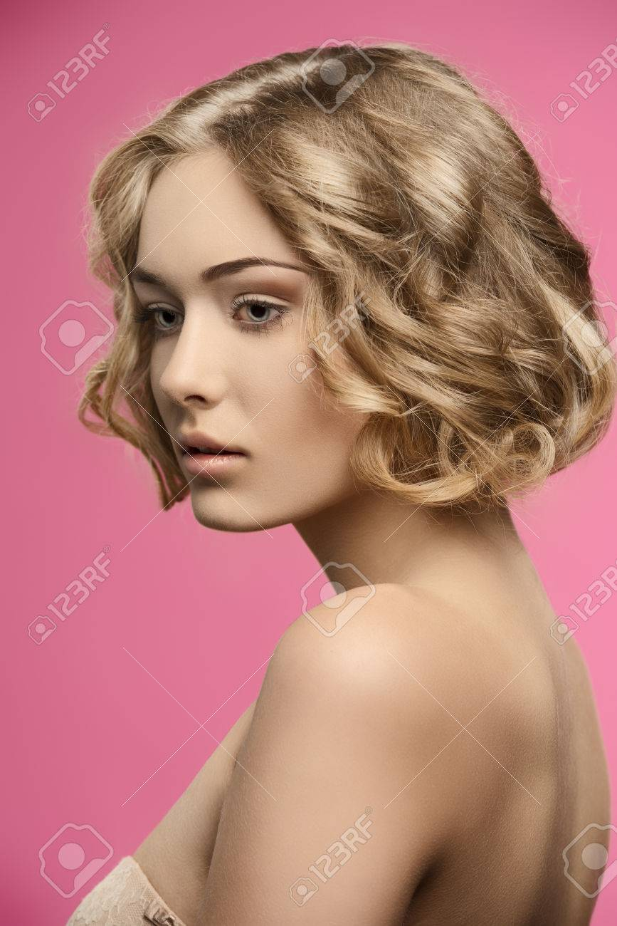 Short curly hair nude
