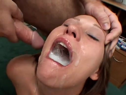 Swallows lots of cum